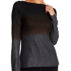 GO COUTURE Crew Neck Dip Dye Ombre Sweater Top